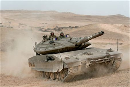 Merkava 4 Tank with Trophy defense system