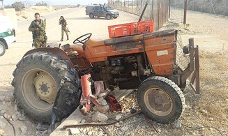 Security fence foils tractor theft