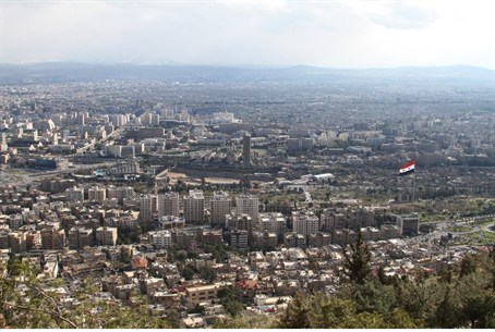 View of the Syrian capital Damascus