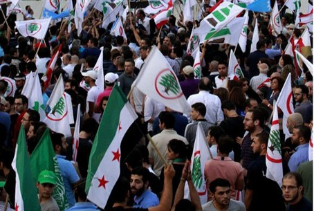 Supporters of the March 14th anti-Syrian oppo