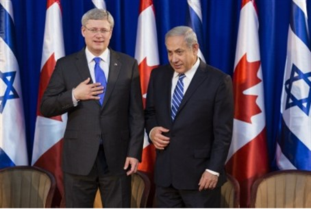 Harper with Netanyahu