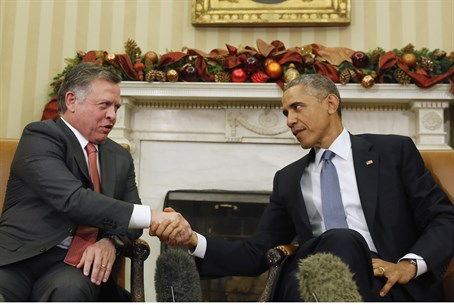Obama and King Abdullah meet in the White House