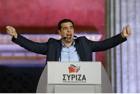 Greek Prime Minister and Syriza party head Alexis Tsipras