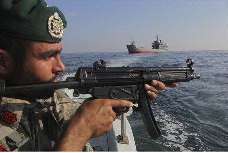 Iranian forces reportedly boarded the vessel after opening fire (file image)