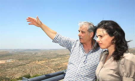 Ayelet Shaked with Yesha Council head Avi Roeh