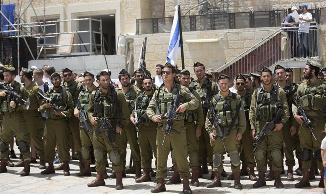 haredi soldiers at Western Wall