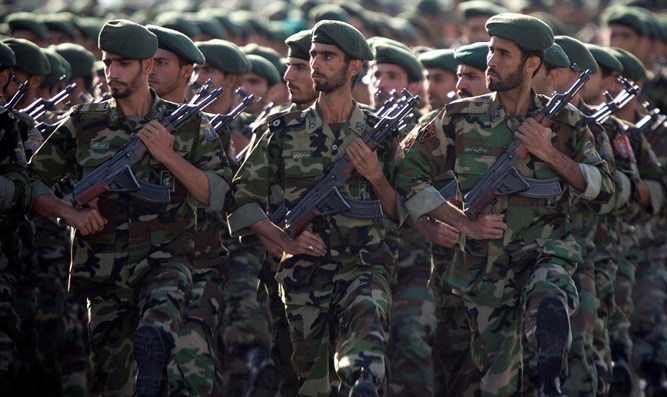 Members of Iran's Revolutionary Guards
