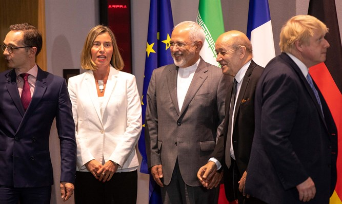 Zarif with European friends