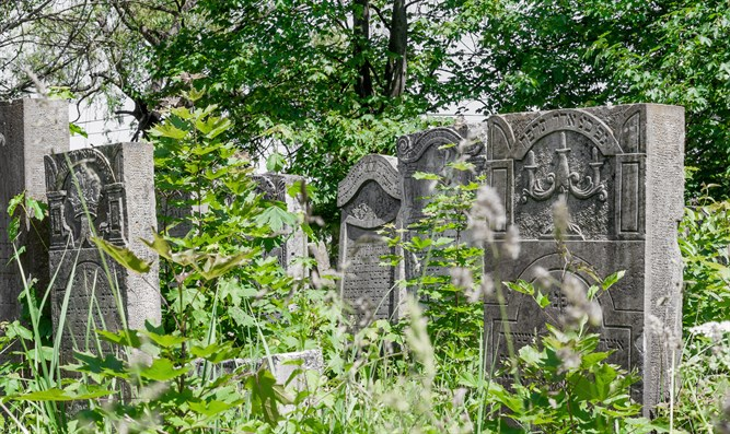 Old Jewish cemetery in Ternopil