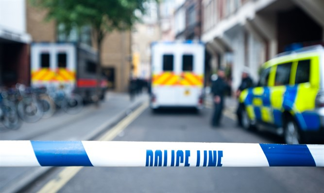 Crime scene in UK (stock)