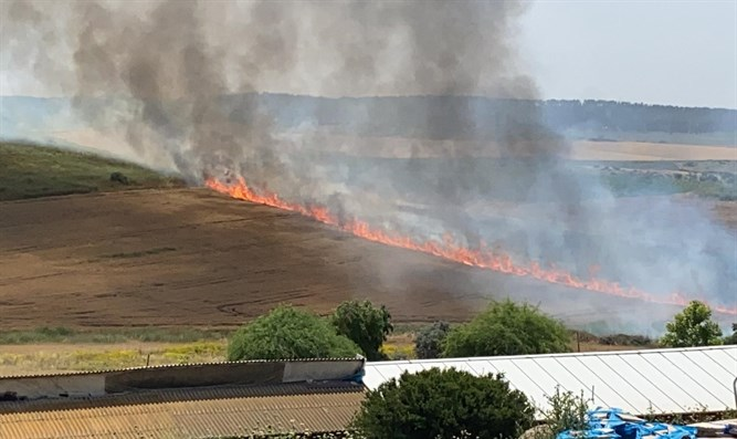 the fire in Kfar Uriah