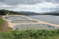 Wastewater treatment lagoon designed by Mapal