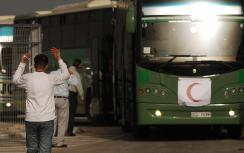 Buses carrying doctors to Gaza