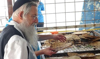 In pictures: Baking Matzah with Rabbi Melamed