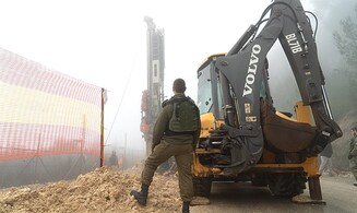 Watch: IDF deploys anti-tunnel infrastructure on border with Lebanon
