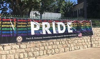US embassy says 'Pride' banner will go back up