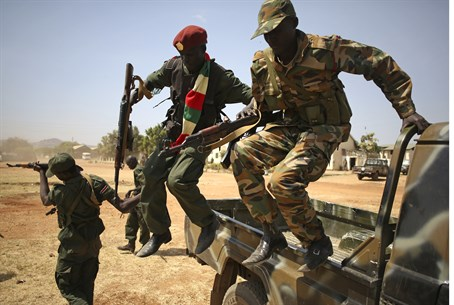 SPLA soldiers in South Sudan (illustrative)