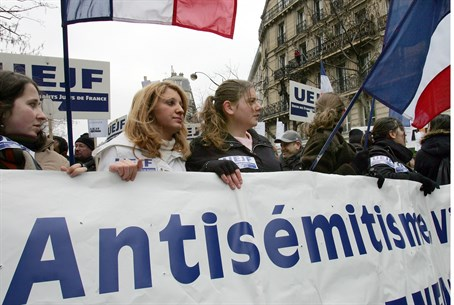 March against French anti-Semitism (file)