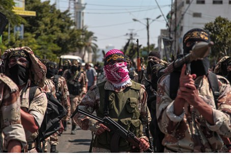 "Islamic Jihad terrorists during Gaza ""victory"" parade"