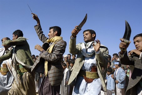 Houthis dance in Yemen (illustration)