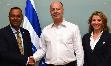 Joel and Natasha with Chairman of Knesset Foreign Affairs and Defense Committee Tzahi Hane