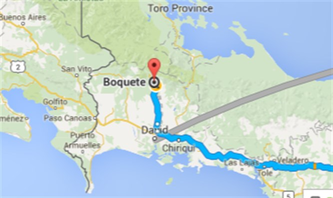 Map of Boquete, Panama