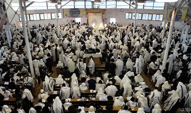 Jews gather for prayers in Uman, Ukraine
