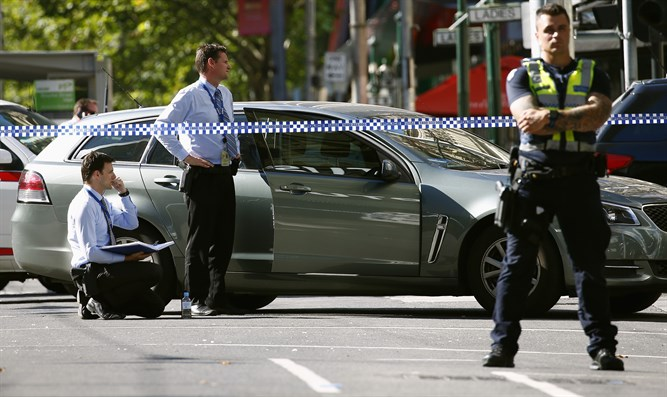 Scene of incident in Melbourne, Australia