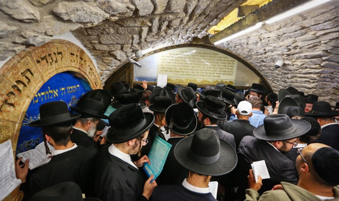 Jews pray at Samuel's Tomb near Jerusalem