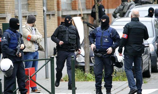 security forces in Brussels