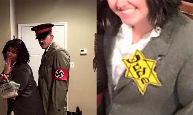 Hitler, Anne Frank as Halloween costumes