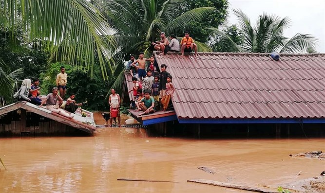 Villagers evacuate after Xepian-Xe Nam Noy hydropower dam collapsed in Attappeu