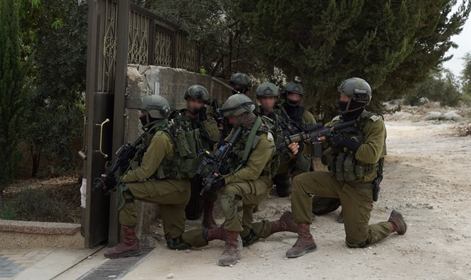 IDF forces in terrorist's village