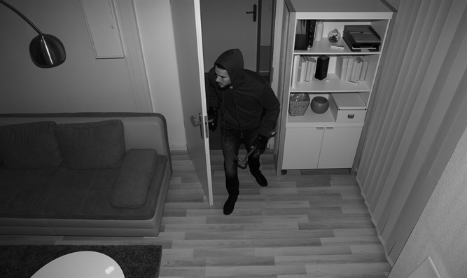 Thief caught on camera (illustrative)