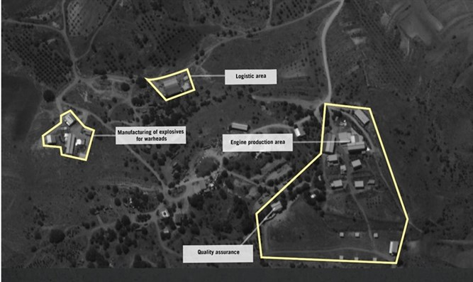 Aerial photo of a site designed to produce and convert precision missiles