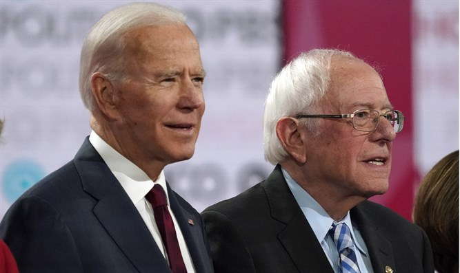 Biden and Sanders at Democratic presidential debate