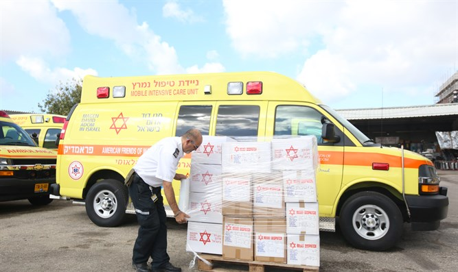Packing supplies for Chabad of China