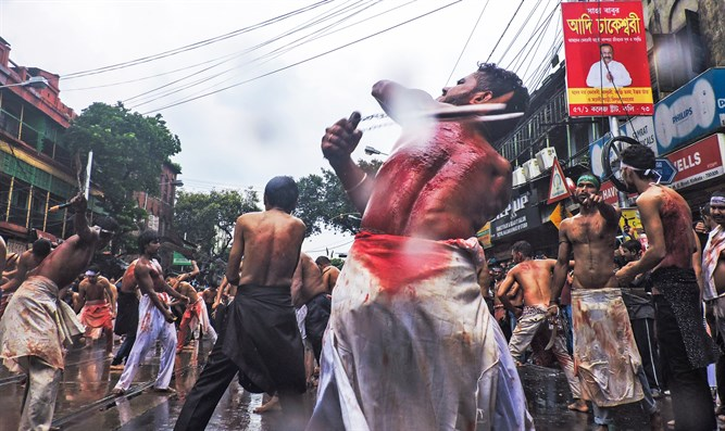 Shi'ites beat themselves bloody during Ashura