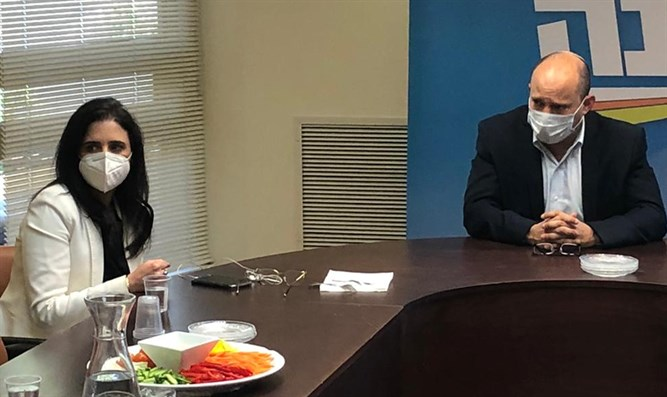 Shaked and Bennett in Yamina meeting