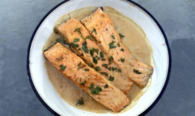 Lemon Butter Herbed Salmon