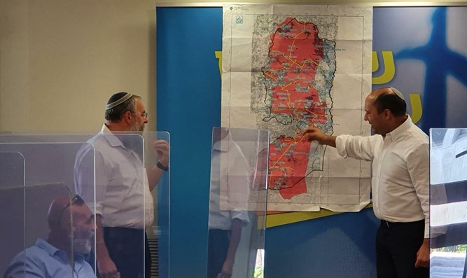 Ne'eman and Bennett examine sovereignty map